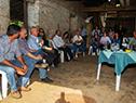Celebración de vecinos del paraje Cerro Travieso por la llegada de la energía eléctrica