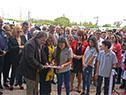 Inauguración de liceo en Sequeira, en Artigas