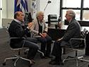 Tabaré Vázquez reunido con Daniel Martínez y Graciela Villar