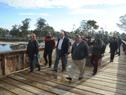Inauguración del Paseo del Puente Ferroviario, pasarela peatonal para conectar Parque del Plata y Las Vegas, en Canelones