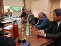 Tabaré Vázquez reunido con ministros y representantes de la red de alcaldes de la cuenca del  Santa Lucía