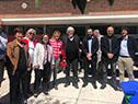 Autoridades presentes en la inauguración del CAIF Olegario ubicado en Montevideo