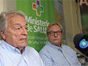 Autoridades del Ministerio de Salud Pública en Salto