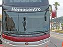 Hemobús que pertenece al Hemocentro de Maldonado