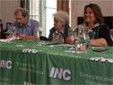 José Olascuaga, Lucía Topolansky y Jacqueline Gómez