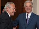 Presidente Tabaré Vázquez se reunió con Embajador Argentino,Mario Barletta y con Coordinadora de ONU, Mireia Villar