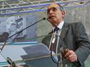 Gonzalo Casaravilla, titular de UTE, haciendo uso de la palabra en celebración de los 107 años del ente