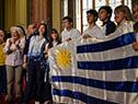 Entrega de Pabellón Nacional a Delegación de estudiantes que participará de la XXV edición de los Juegos Deportivos Escolares