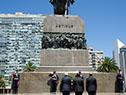 Llegada del presidente de Costa Rica, Carlos Alvarado