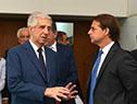 El presidente Tabaré Vázquez recibió al mandatario electo, Luis Lacalle Pou