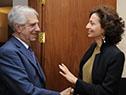 El presidente de la República, Tabaré Vázquez, recibe a la directora general de la Unesco, Audrey Azoulay