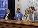 Fernando Cáceres, Sebastián Abreu, Sonia Díaz y Pablo Hernández