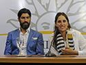 Sebastián Abreu y Sonia Díaz