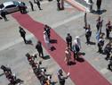 Llegade del flamante presidente de Argentina, Alberto Fernández, a Casa Rosada