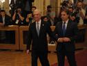 Presidente de la República, Tabaré Vázquez y presidente electo de Uruguay, Lacalle Pou