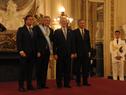 Vázquez y Lacalle Pou saludaron al flamante presidente de Argentina, Alberto Fernández, en Casa Rosada