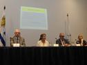 Ministro de Salud Pública, Jorge Basso, haciendo uso de la palabra