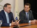 Conferencia de prensa de Álvaro Delgado y Rodrigo Ferrés