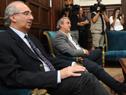 Ministro del Interior, Eduardo Bonomi, recibió a Jorge Larrañaga, futuro Ministro del Ministerio del Interior