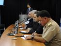 Conferencia de prensa de autoridades de la Unidad Nacional de Seguridad Vial