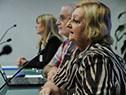 Conferencia de prensa encabezada por la ministra de Turismo, Liliam Kechichian