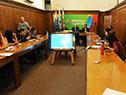 Conferencia de prensa en el Ministerio de Salud Pública