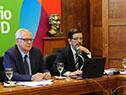 Ministro Jorge Basso y director de la Junta Nacional de Salud, Arturo Echavarría