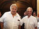 Tabaré Vázquez junto al presidente de Daecpu, Enrique Espert