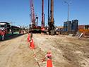 Rossi y Díaz recorrieron las obras de construcción del viaducto en rambla portuaria