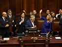 Acto de asunción de Luis Lacalle Pou y Beatríz Argimón en el Palacio Legislativo