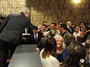 Luis Alberto Heber llega al acto de asunción como ministro de Transporte y Obras Públicas