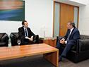 Secretario de Presidencia, Álvaro Delgado, junto al secretario de Asuntos Estratégicos de Argentina, Gustavo Beliz