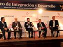 """Expositores del panel """"Infraestructura y energía: El camino hacia adelante"""" en I Foro de Integración y Desarrollo"""