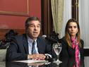 Canciller, Ernesto Talvi, y subsecretaria, Carolina Ache Batlle