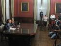 Canciller, Ernesto Talvi, y subsecretaria, Carolina Ache Batlle, en conferencia de prensa