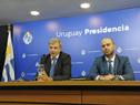 Secretario nacional del Deporte, Sebastián Bauzá, previo al inicio de la conferencia de prensa