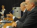 Ministro de Defensa Nacional, Javier García, y subsecretario de la cartera, Rivera Elgue