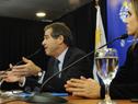 Ministro de Relaciones Exteriores, Ernesto Talvi, y subsecretaria de la cartera, Carolina Ache