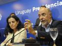 Ministro de Trabajo y Seguridad Social, Pablo Mieres, dirigiéndose a los presentes