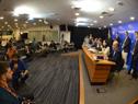 Presidente Luis Lacalle Pou encabezó conferencia junto a ministros, presidente del BCU, director de OPP, secretario y prosecretario de Presidencia