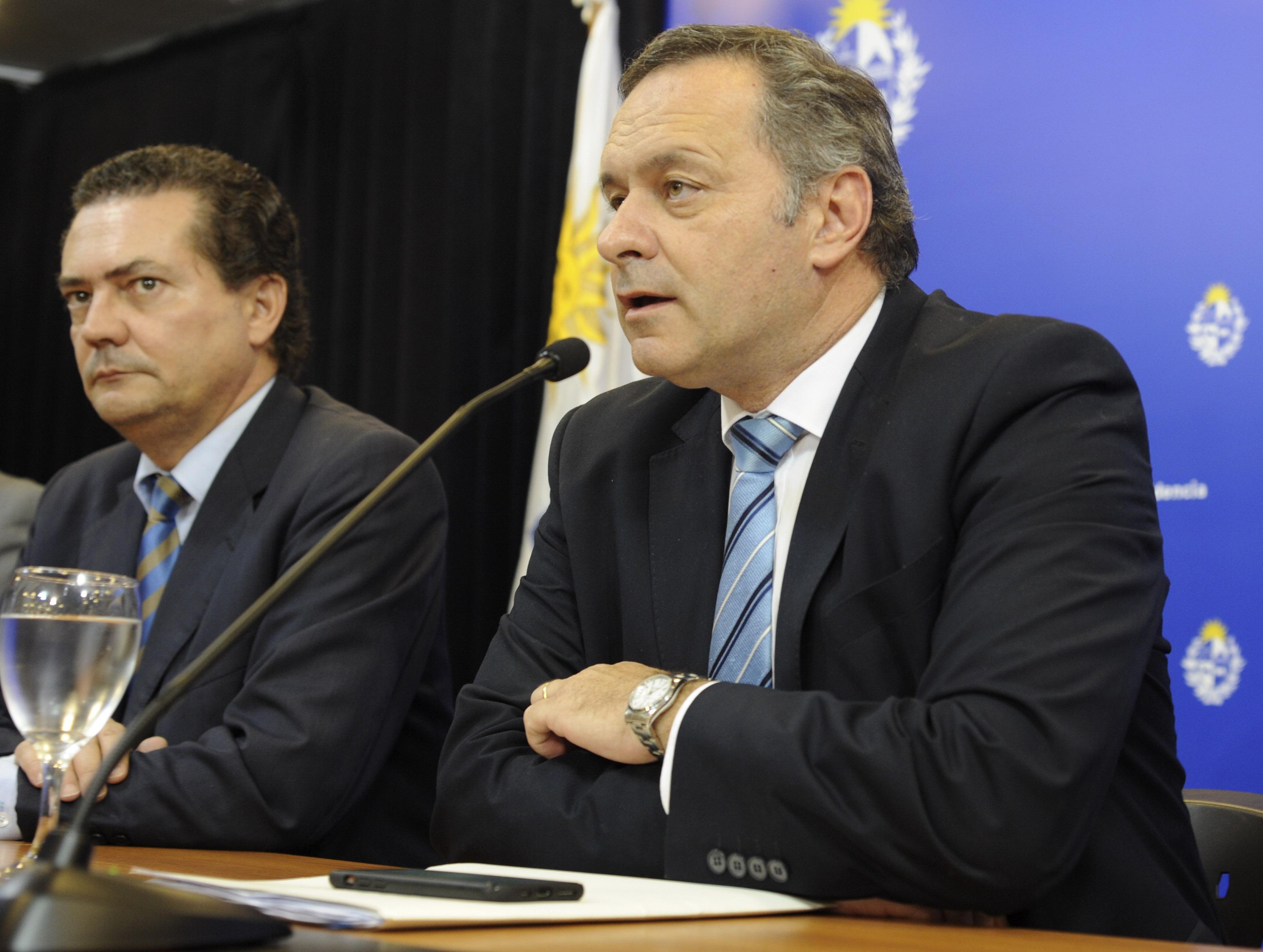 Prosecretario de Presidencia, Rodrigo Ferrés, y secretario de Presidencia, Àlvaro Delgado