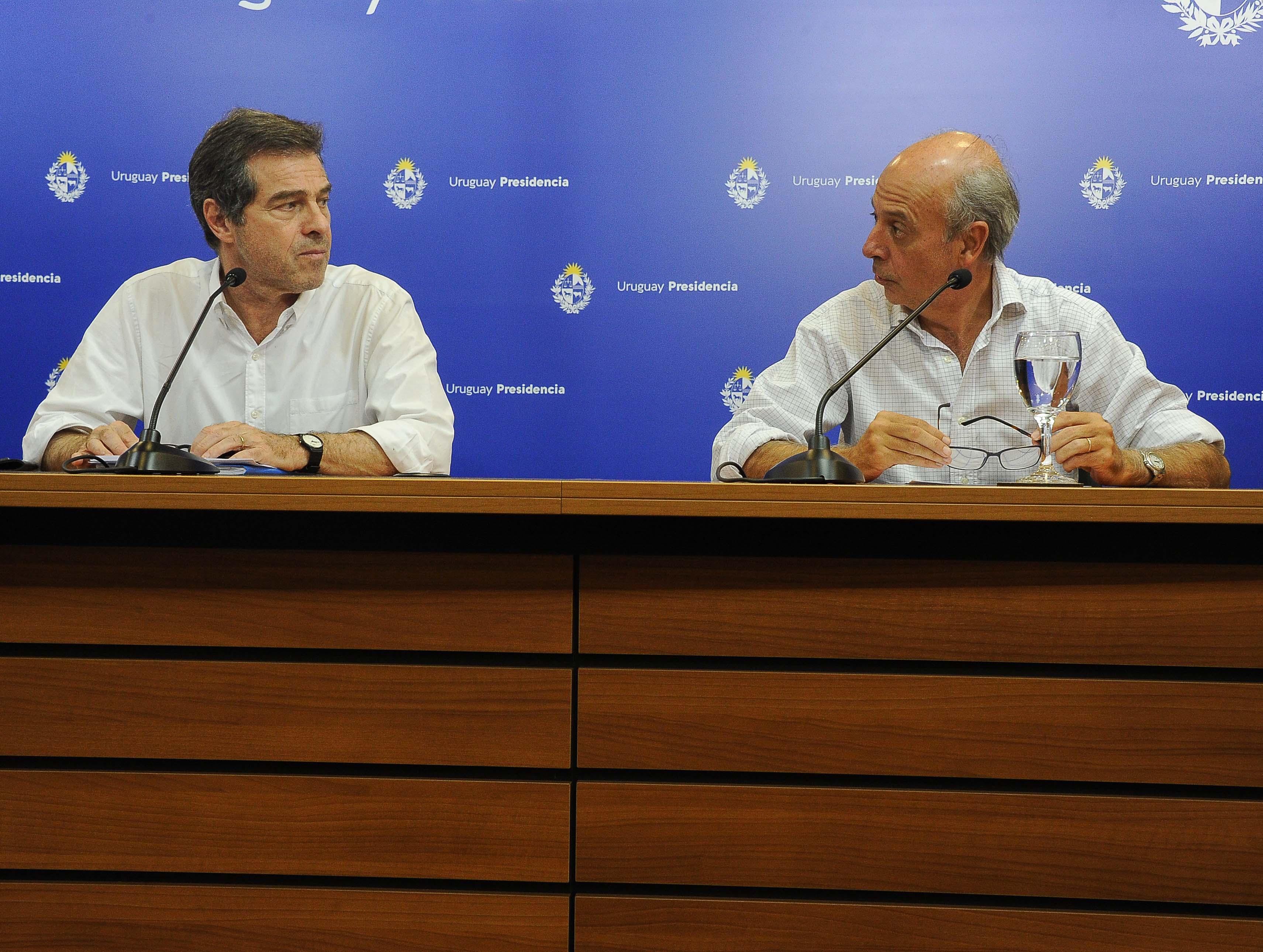 Canciller Ernesto Talvi y ministro de Defensa, Javier García