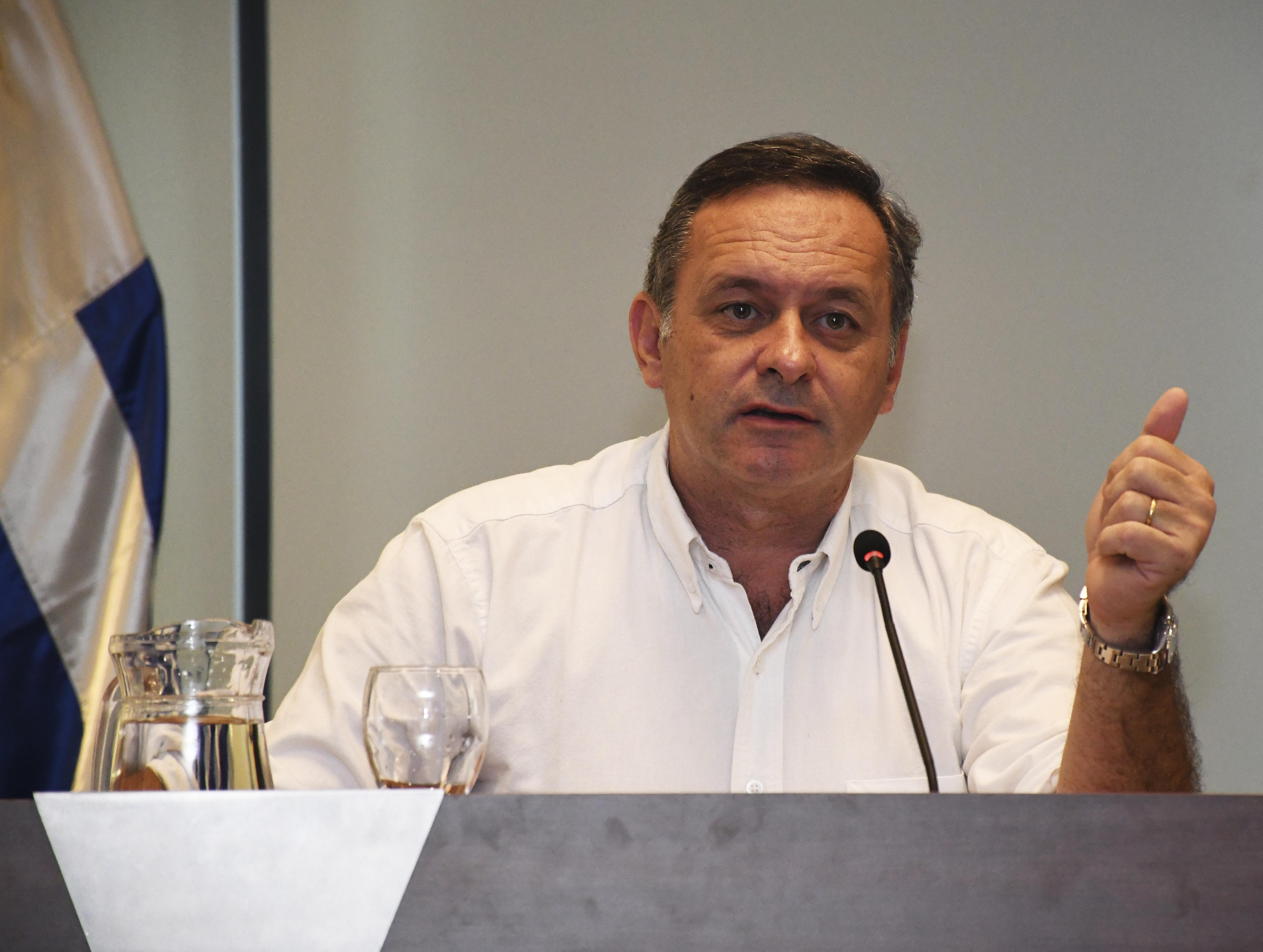 Secretario de Presidencia de la República, Álvaro Delgado, haciendo uso de la palabra durante videoconferencia