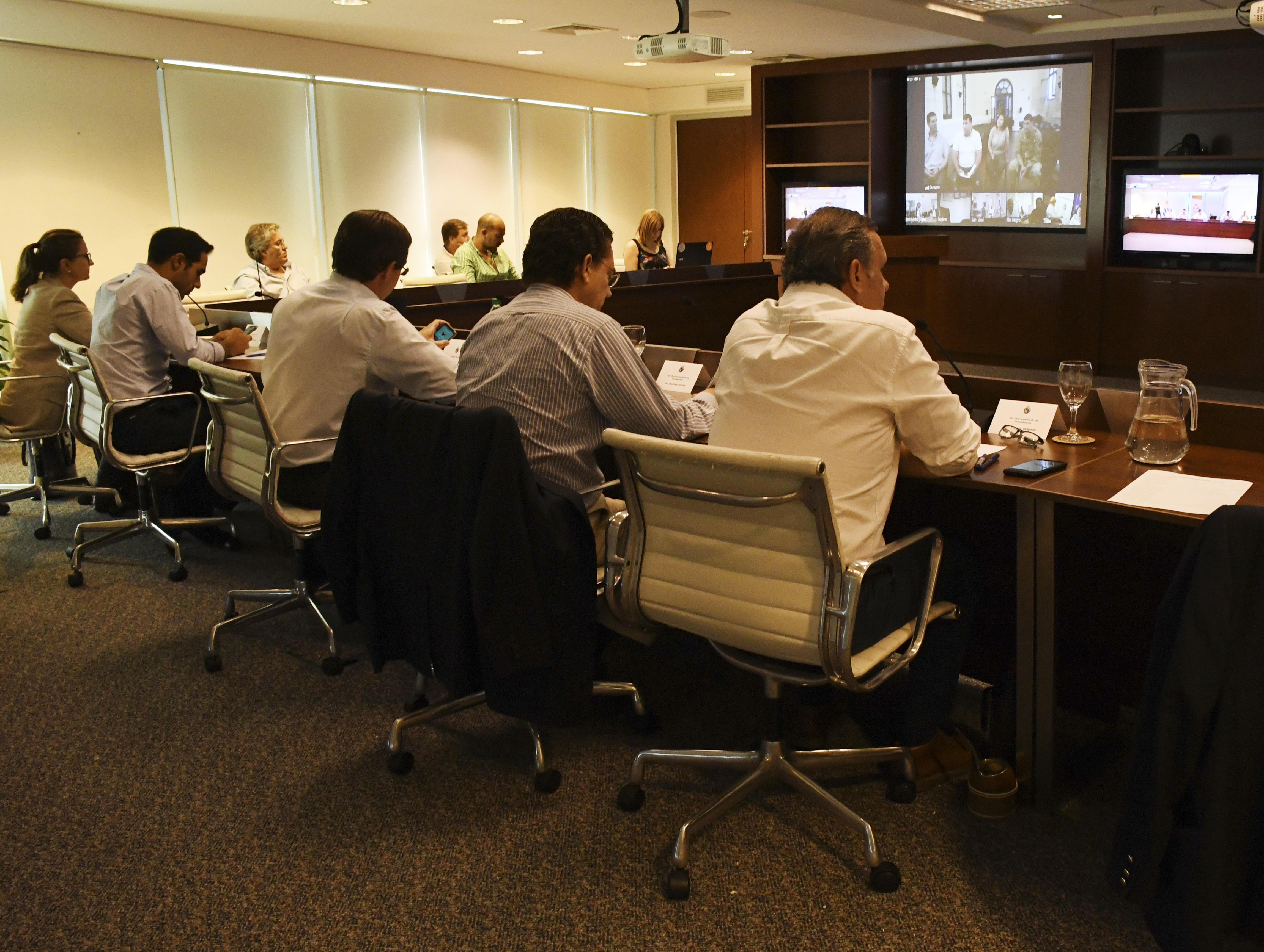 Videoconferencia entre autoridades nacionales e integrantes de Comités Departamentales de Emergencias