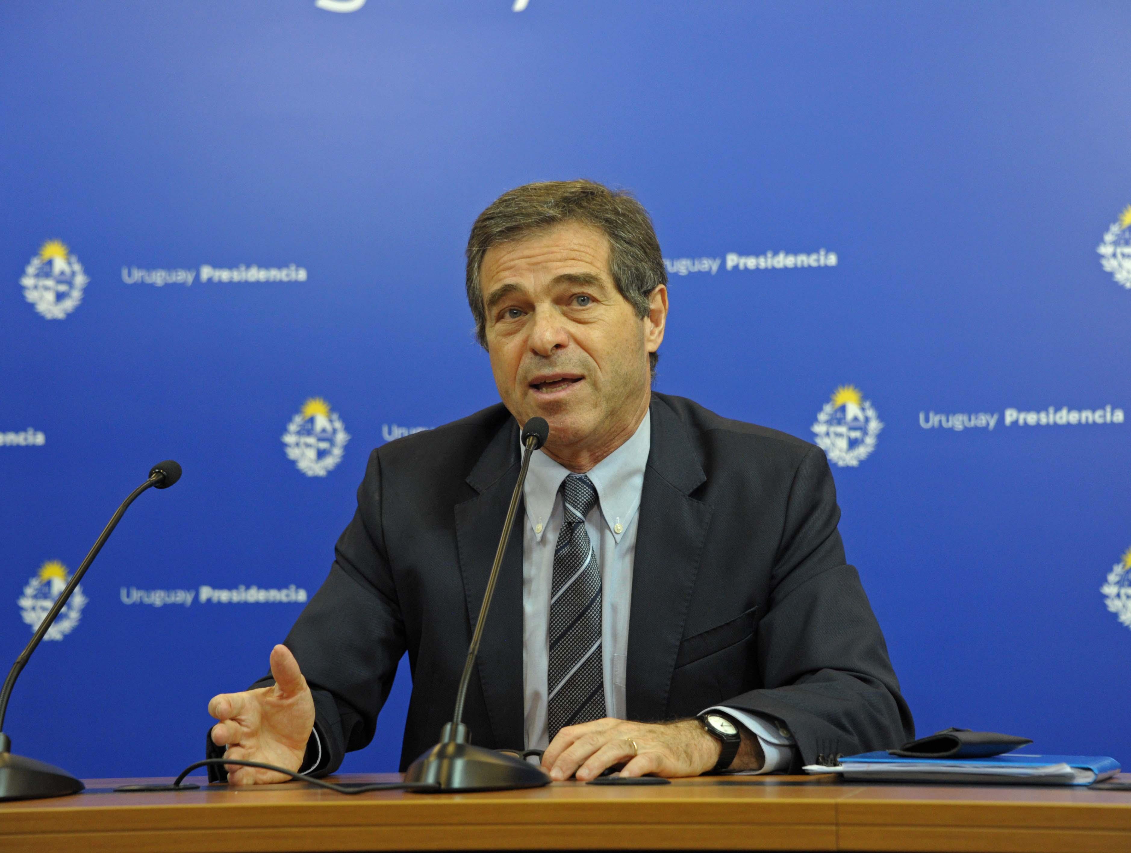 Canciller Ernesto Talvi, en conferencia de prensa