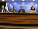 Secretario y prosecretario de Presidencia, Álvaro Delgado y Rodrigo Ferrés, junto a ministros Pablo Bartol, Azucena Arbeleche y Pablo Mieres