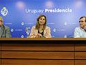 Presidenta del Congreso de Intendentes e intendenta de Lavalleja, Adriana Peña, haciendo uso de la palabra