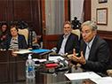 Consejero Héctor Florit y presidente de la ANEP, Robert Silva