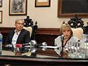 Presidente de la ANEP, Robert Silva, y directora del Consejo de Educación Inicial y Primaria, Irupé Buzzetti