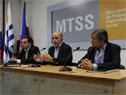 Ministro de Trabajo y Seguridad Social, Pablo Mieres, encabezó conferencia de prensa en sede de cartera que dirige